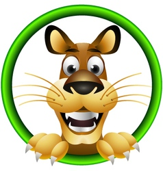 Skinny cute cartoon lion vector
