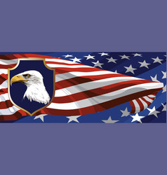 the national symbol of the usa vector image vector image