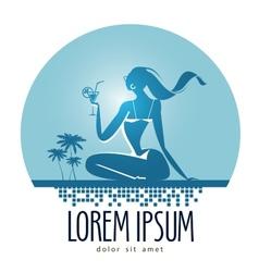Vacation logo design template beach or vector