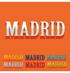 Flat design madrid vector