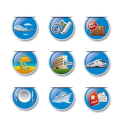Travel and resort badges vector