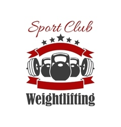 Weightlifting sport club sign vector