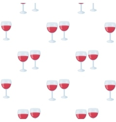 Wine glasses icon in cartoon style isolated on vector