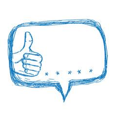 thumb up like vector image