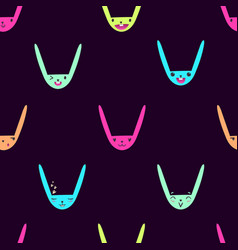 Rabbit emoticons pattern-15 vector