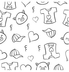 doodle kid theme for background vector image