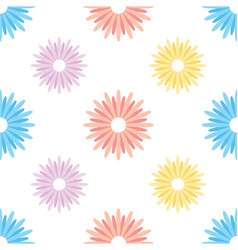 Nature and sunflower seamless pattern vector