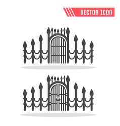 gate icon sign symbol vector image