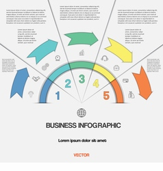 Infographic for success business project template vector