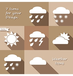 Monochrome icons design of weather forecast vector