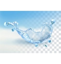 Water splash element vector