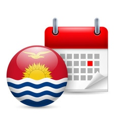 Icon of national day in kiribati vector