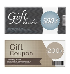 Gift voucher and coupon templates design vector