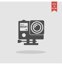Action camera outline monochrome icon extreme cam vector
