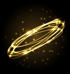 abstract gold plasma background with ovals vector image vector image