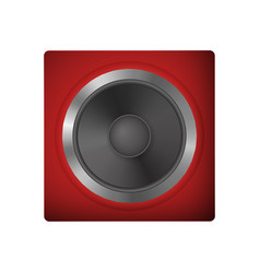 audio speakers for a netbook vector image