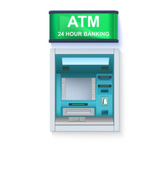bank cash machine atm - automated teller machine vector image vector image
