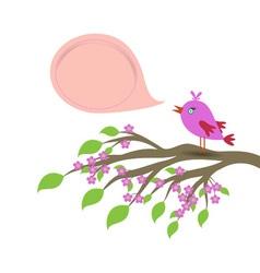 Bird and speech bubble template vector image