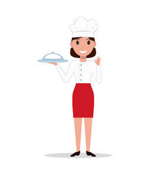 Cartoon chef cook woman vector