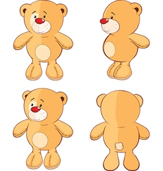 Character cute cartoon bear for computer game vector image vector image