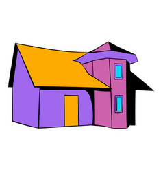 cottage icon icon cartoon vector image vector image