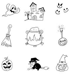 Doodle of element halloween character vector