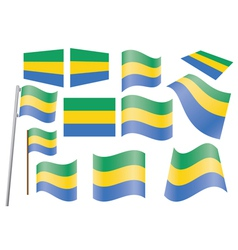 flag of Gabon vector image vector image