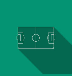 Football field or soccer field with long shadow vector