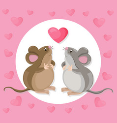funny cute mouse cartoon character with a baloon vector image