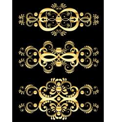 Golden Floral Ornament2 vector image vector image