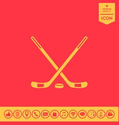 hockey icon vector image