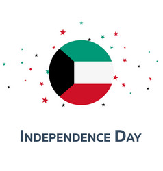 independence day of kuwait patriotic banner vector image