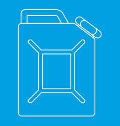 jerrycan icon outline style vector image vector image