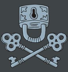 Jolly roger padlock vector