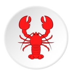 Lobster icon cartoon style vector