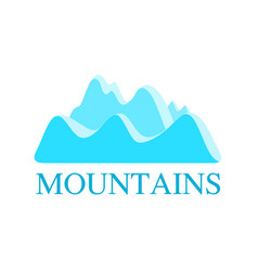 Logo with mountains in blue color vector