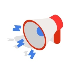 Loudspeaker icon isometric 3d style vector image vector image