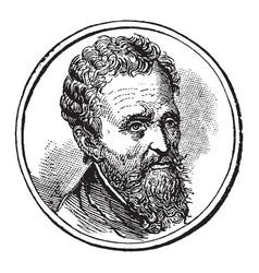 Michelangelo vintage vector