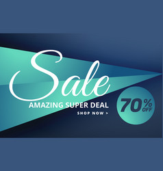 modern sale banner design with offer details vector image vector image
