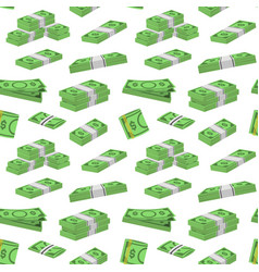 money dollar packing in bundles of bank notes vector image