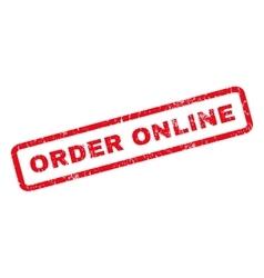 Order online rubber stamp vector