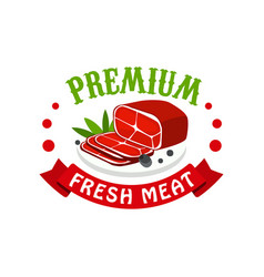 premium fresh meat logo template design badge for vector image