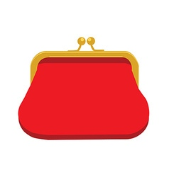 Red purse icon vector image