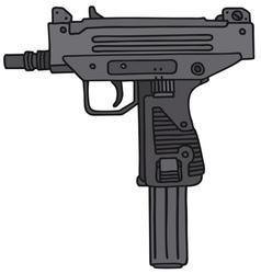 Short automatic gun vector