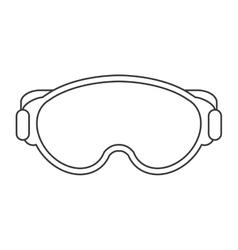 Ski mask icon vector