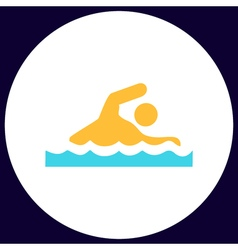 Swimming computer symbol vector image vector image
