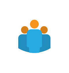 Team flat icon symbol premium quality isolated vector