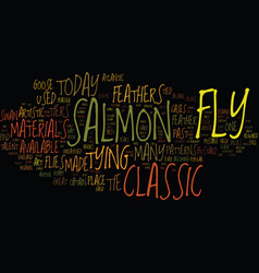 The classic samon fly text background word cloud vector