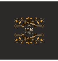 Vintage Frame - Monogram or Calligraphic Design vector image