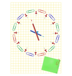 Office clock concept vector